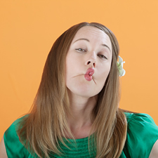 Woman Pretends To Kiss