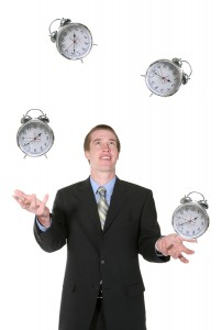 Business Man Juggling His Time