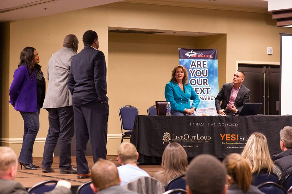 Loral & Kevin speaking at an event in Austin in February 2014.