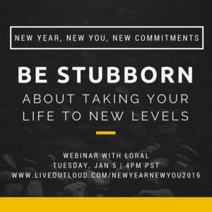 Screw 'resolutions.' I believe in commitments. I believe in being stubborn about taking your life to new levels. What are your 2016 commitments? Share them with me and I'll share them on my 'New Year, New You, New Commitments' webinar tomorrow. This is always one of my favorite events of the year – we get really clear on what you need to START, STOP and KEEP doing in your life. Should be awesome, over 2,500 people registered – can't wait! #NewYear #NewYou #NewCommitments