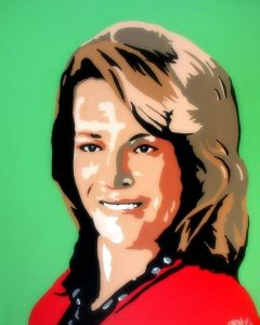 Awesome painting one of my community members drew of me...love it! #LoralLangemeier #3Days2Cash