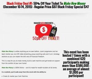 My Black Friday deal is just $47...worth millions.https://liveoutloud.com/blackfriday2015/ Offers are only good til midnight tomorrow – it's time to take the next step. ⚫️⚫️⚫️⚫️⚫️⚫️ #BlackFriday #AskForTheCash #blackfridaysale #MakeNewMoney #investment #wealthcreation #entrepreneurship #entrepreneurlife #startuplife #liveyourdream #LoralLangemeier #wealth #training #business #marketing #sales #invention #startup #l4l #f4f #first #LiveOutLoud #smallbusiness #entrepreneur #businessowner #CEO #founder #linkinbio #leadership #sale
