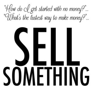 """Questions people ask me: """"How do I get started with no money?"""" """"What's the fastest way to make money?"""" ... Go sell something.  When you sell something, you make money.  If you don't have services or products yet, sell someone else's. The only reason you don't have money is because you don't know how to sell, what to sell or don't have anything to sell. A lot of you have it out of order. You think magically some money is going to come in and you magically are going to learn how to build a business with real revenue and real leads. You think you need to build a perfect product or business before revenue starts to come in.  We flip-flop the model here in my community and get the money first. Pre-sales, deposits – whatever it takes to get money in the door and validate our idea concept. Then, we build and fulfill. The bottom line here is you just have to have the courage to start. The money is in the sale. You have to sell. Share if you agree. #MoneyMondays"""