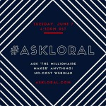 Hosting my next AskLoral webinar on Tuesday June 7 athellip