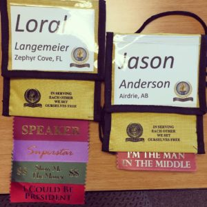 Check out these badges Jason & I received at a recent event... Mine says: Speaker, Superstar, Show Me The Money, & I Could Be President. Jason's says: I'm The Man In The Middle Lol <3 love em! #MoneyMonday #millionairemindset