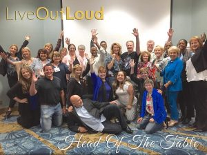 My awesome Head Of The Table community at the end of our event last week!  Had an awesome time learning from marketing master Dan Kennedy Marketing and diving into the 'business of speaking' with the amazing Nancy Matthews. Such a great group of movers & shakers! #HeadOfTheTable #LoralLangemeier